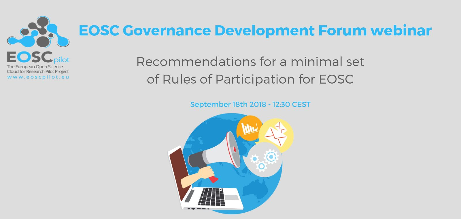 EOSC Governance Development Forum webinar – 18th September 2018