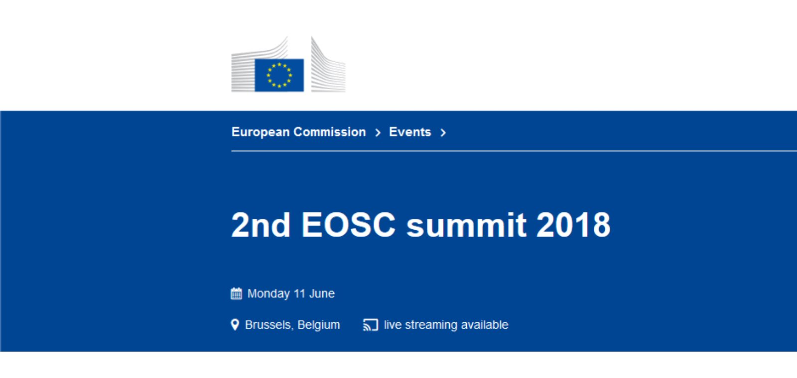 2nd EOSC summit 2018